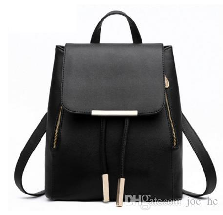2017 Fashion Women's backpack bag school bag handbags Genuine Leather shoulder purse top quality