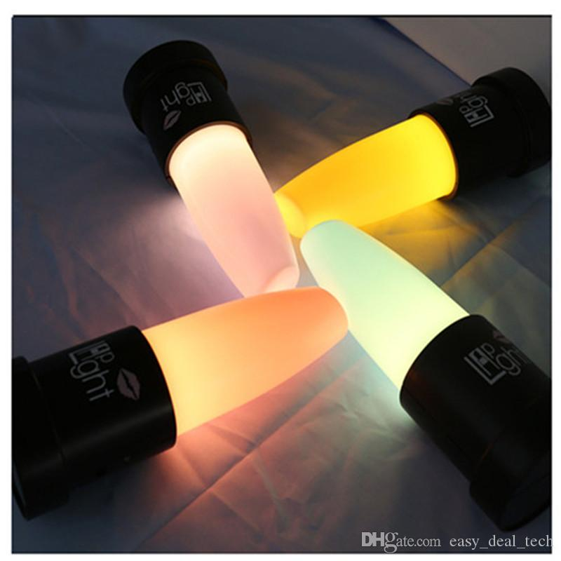 Novelty LED Lipstick Light Bedroom Livingroom Desk Night Lamp Christmas Girls Creative Gifts Party Wedding Decor USB Recharge ZJ0387