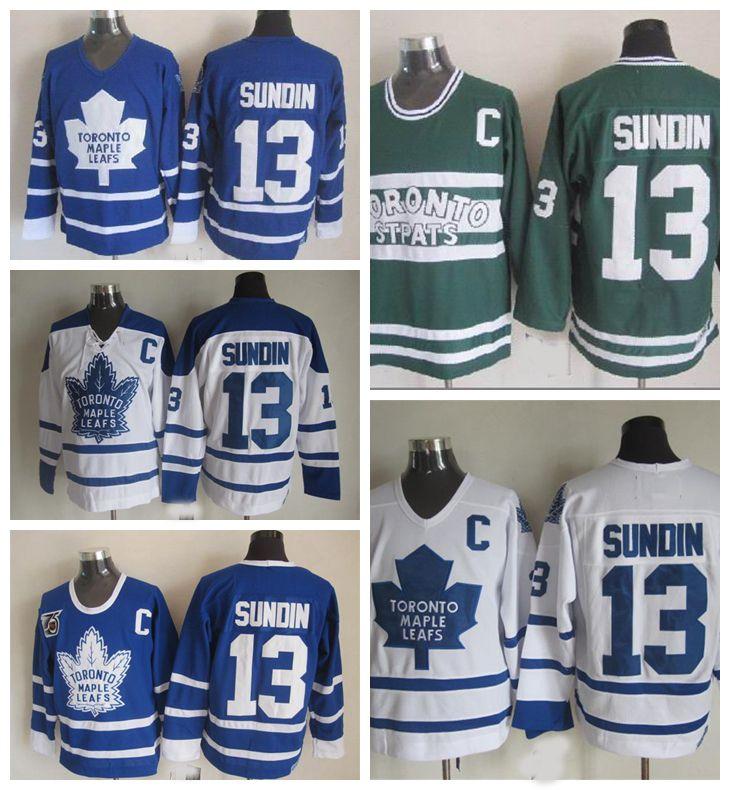 Best Quality Throwback Toronto Maple Leafs 13 Mats Sundin Hockey Jerseys  Vintage Classic 75th Anniversary Mats Sundin Jersey Embroidery C Patch S  Xxxl At ...