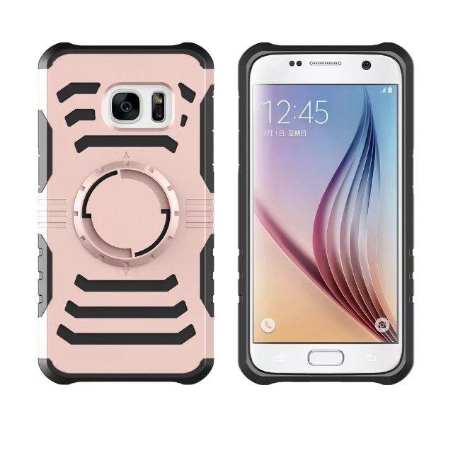 For Iphone 7 6 6s Plus Galaxy S7 Edge/S8 Plus Case Hard Plastic+TPU+Armband Layer Fashion Shockproof Armor Hybrid Rugged Layer Arm Band Dual