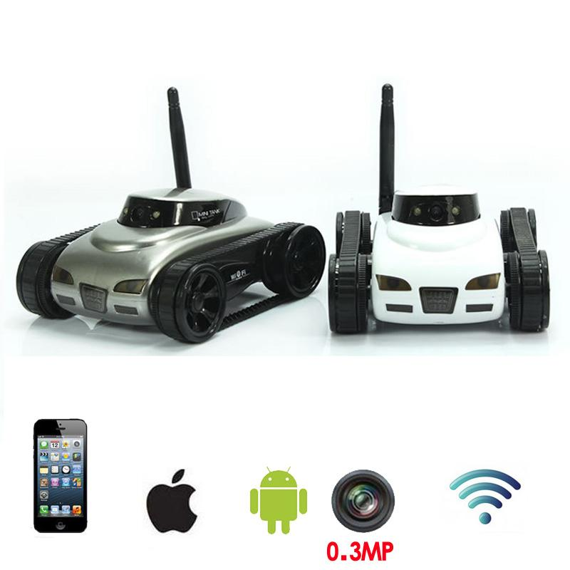 Wholesale Funny Wifi Rc Tank Car Toy With 0 3mp Hd Camera Realtime Transmission Toys Remote Control By Moblie Phone Boy Kids Toys Juguetes