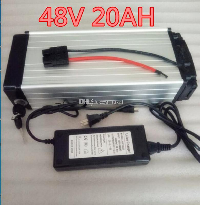 ebike lithium battery 48v 20ah lithium ion bicycle 48v electric scooter battery for kit electric bike 1000w with BMS and 2a Charger