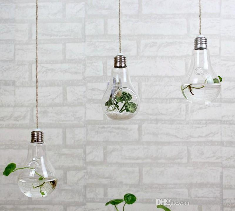 Clear Hanging Bulb Vases Succulent Air Plant Bulb Terrarium Light