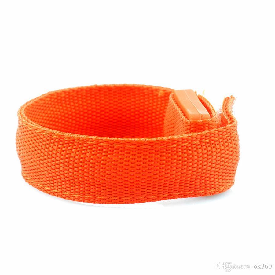 Nylon LED Clignotant Bras Bandoulière Bracelets Lumière pour Sports de Plein Air Sécurité 22cm Activité Party Club Cheer Veilleuse