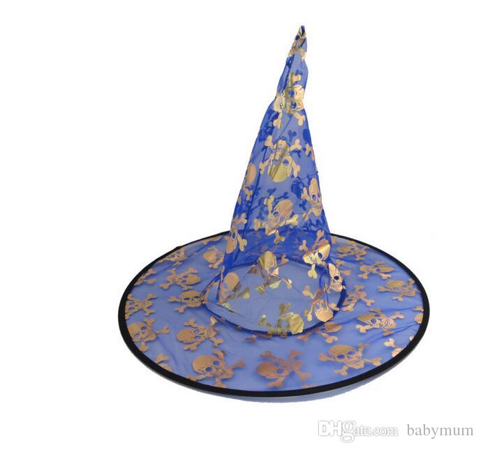 Halloween kids Costumes hats Halloween Party Props Cool Witches Wizard Hat girl cosplay cap Various Color
