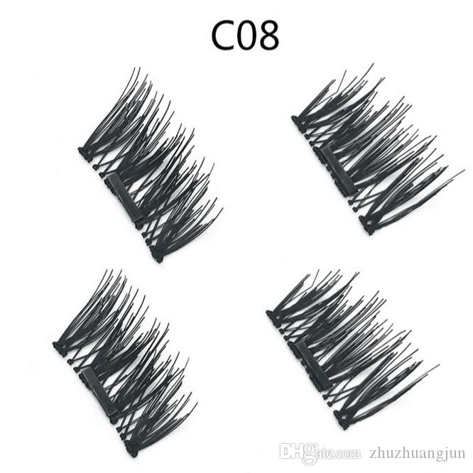 TOP QUALITY Without glue protein filament Sharpen magnetic false eyelash Natural and long 6 style Top quality