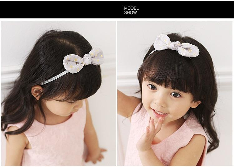 bambino Gold Stars morbida Bowknot Rabbit Ears ragazze fasce elastiche del bambino scherza gli accessori dei capelli Bella Huilin BH17
