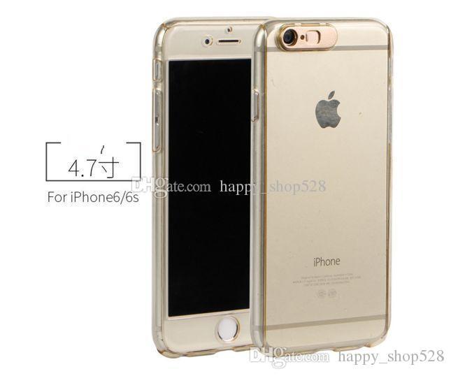 LED 360 full body call lightning case Call Lightning Flash Case Full Body Hard PC For Iphone 7 7P 6 6P 5 Tempered Glass Screen Clear Skin