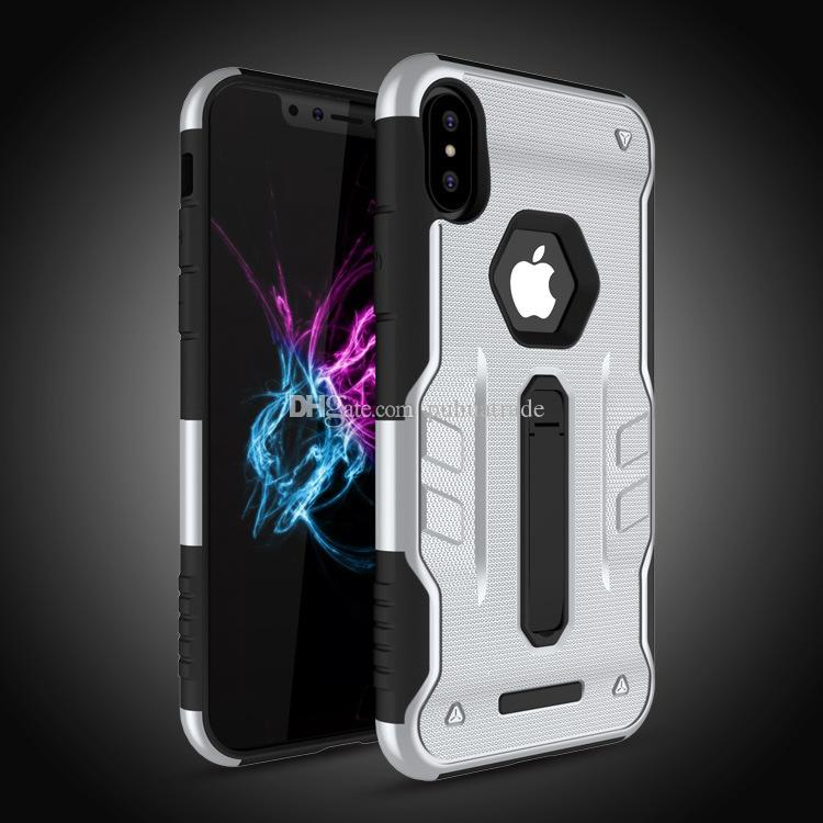 Anti-batida case para iphone x capa, híbrido kickstand celular tampa para apple iphone x case para eu telefone x telefone casos