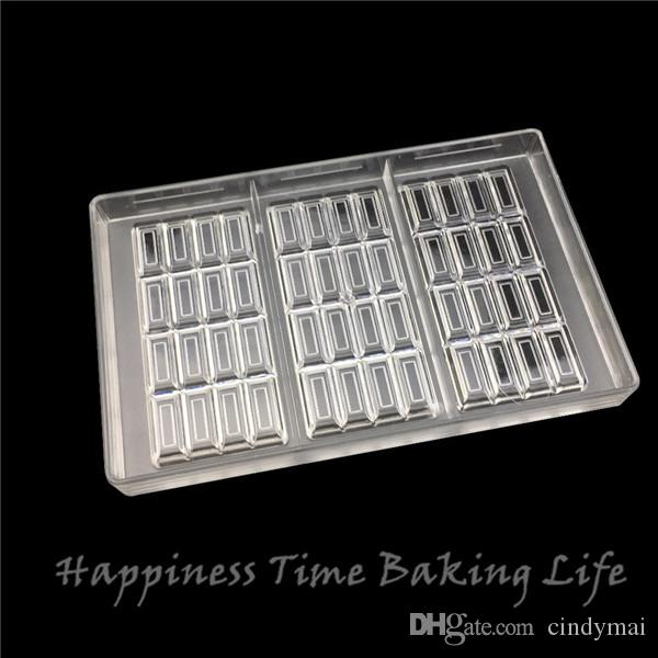15x7.4x0.8cm*3cups Shape Chocolate Clear Polycarbonate Plastic Mold,DIY Handmade Chocolate PC Mold,Chocolate Tools