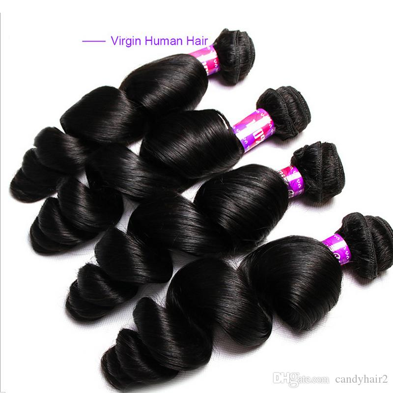 Water wave virgin human Hair extensions Unprocessed water wave virgin remy Hair Bundles Dyeable Best Quality Hair Weave 1b natual black