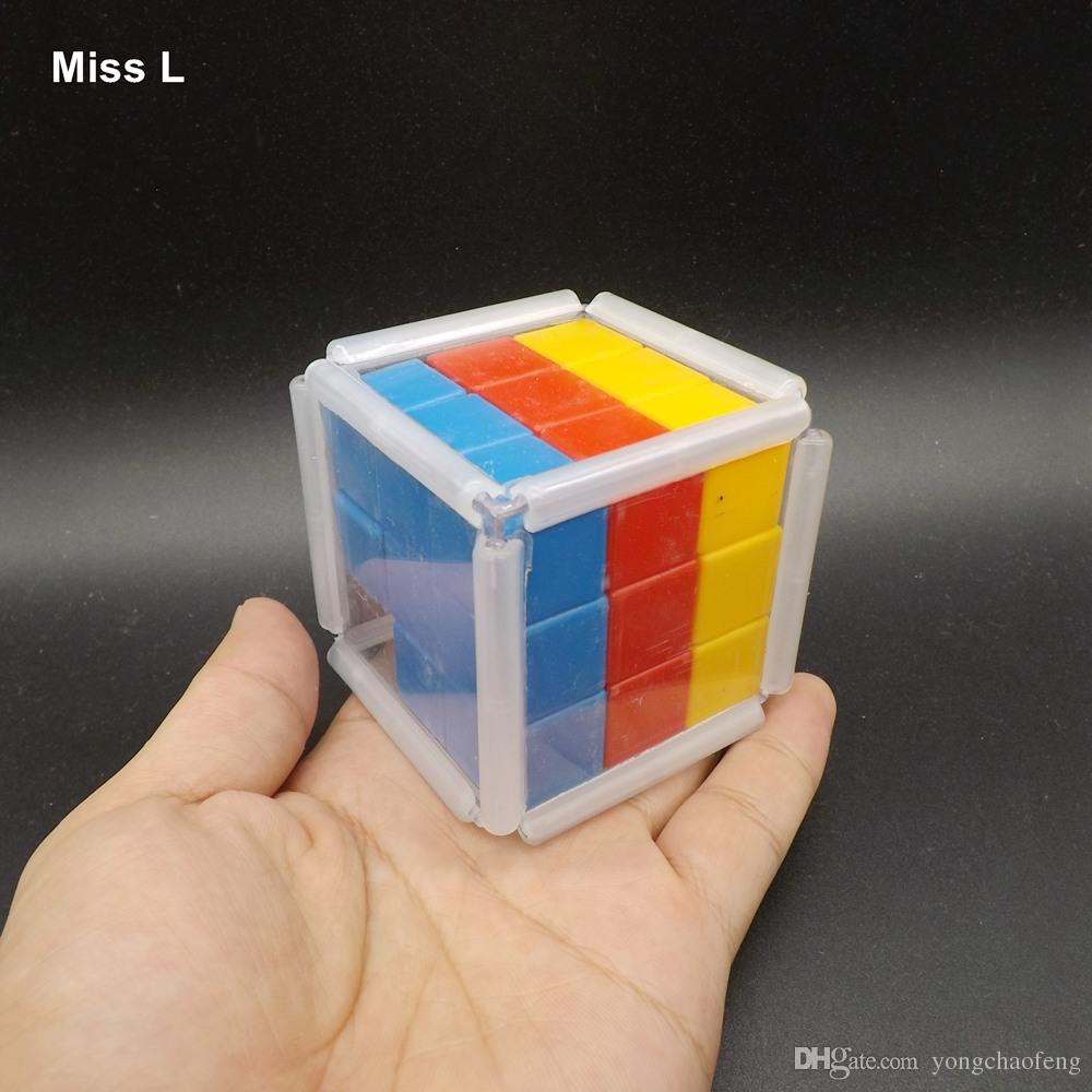 Plastic Rainbow Slide Cube Block Gravity Puzzle Brain Mind Game
