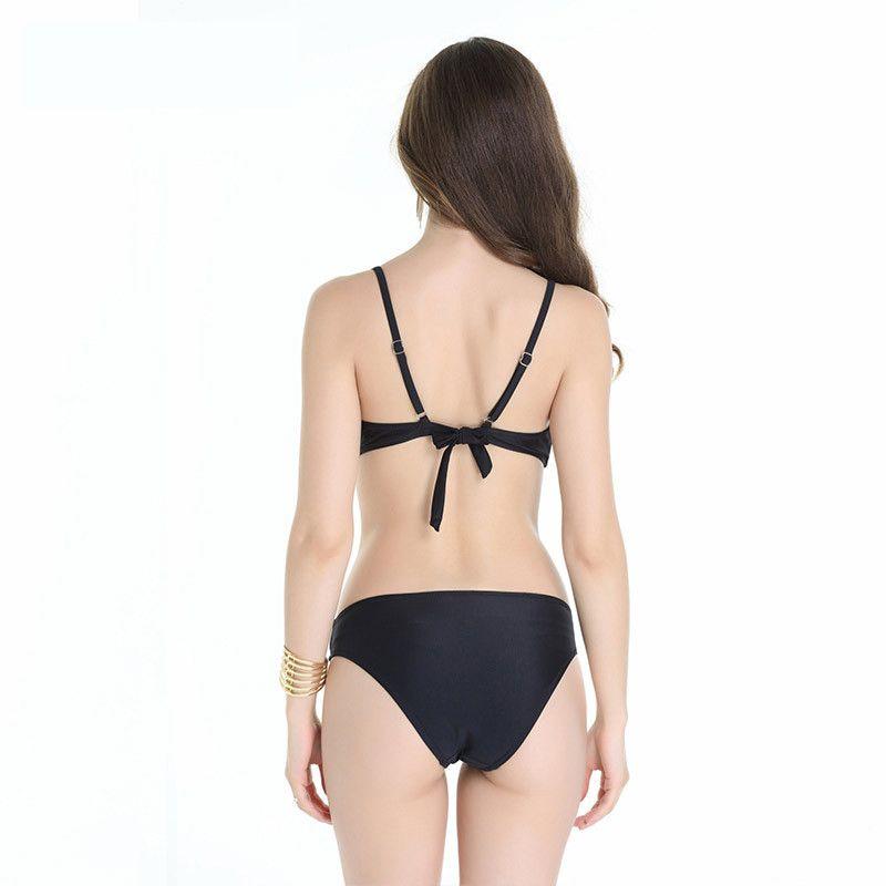 Feminino divisão biquíni maiô 2017 novo fio net sexy cor pura cuidadosamente selecionado tecido fino delicado suave pele macia trazer a pele 1318