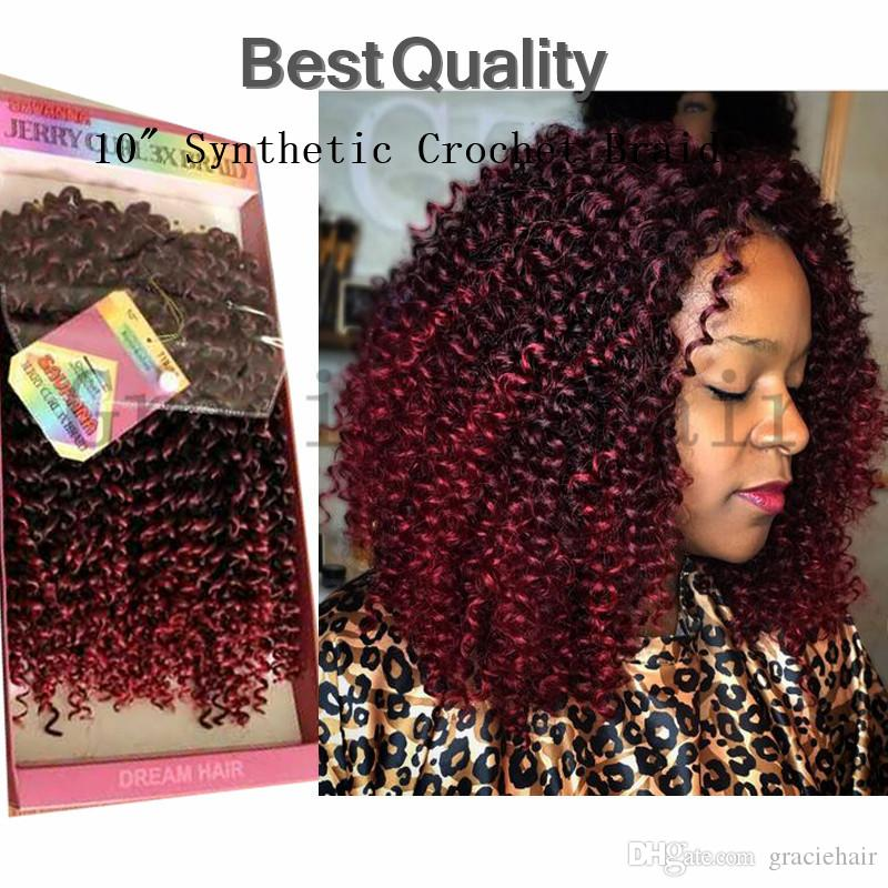 2018 Ombre Kanekalon Hair Bundles Synthetic Crochet Braids Freetress