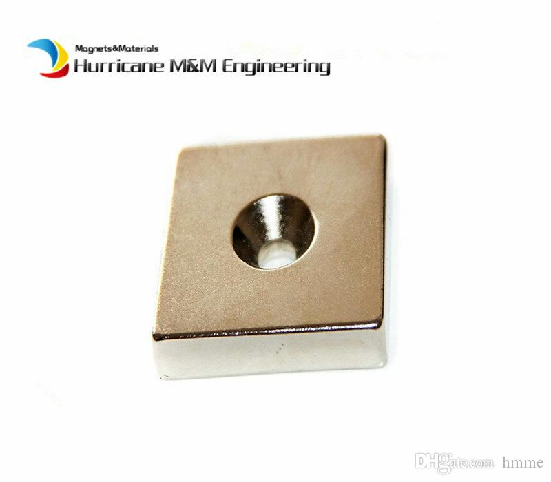 NdFeB Fix Magnet 50x20x10mm with 2 M5 Screw Countersunk Holes Block N42 Neodymium Rare Earth Permanent Magnet
