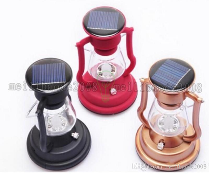 Llega el Panel de células solares Lantern Camp 7 LED Lámpara de luz brillante Manivela de mano al aire libre Luz de senderismo portátil Camping MYY