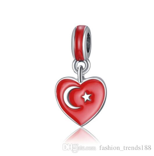 Symbol Sign Silver European Spacer Charm Bead For Bracelet Necklace