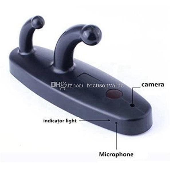 Clothes Hook pinhole Camera HD coat hanger camera Audio voice video recorder with Remote control hook DVR black & white