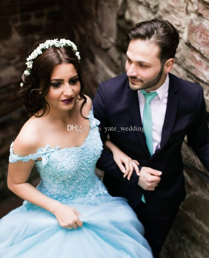 Charming Ball Gown Prom Dresses Off Shoulder Appliques Lace Tulle Corset Lace Up Backless Quinceanera Dresses Mint Sweet 16 Dresses