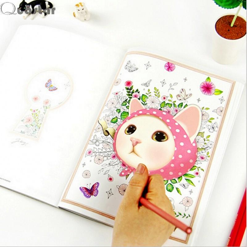 Cute Colorful Jetoy Cat Coloring Book For Children Adult