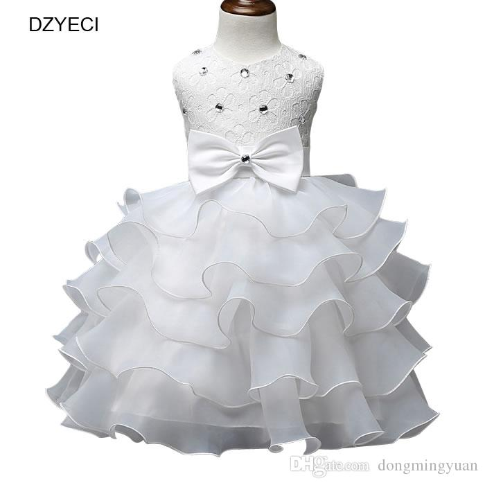 b3de979309e5 Summer Baby Girl Bow Dresses Carnaval Costumes Kid Prom Ball Gown Party  Frock Bridesmaid Children Ceremony Elegant Female Small Beauty Carnaval  Costumes for ...