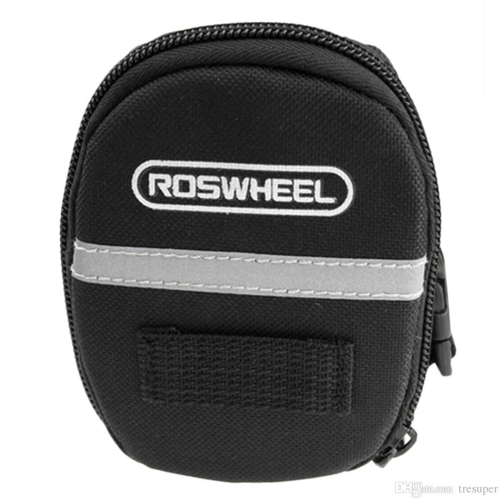 ROSWHEEL Wasserdichte Mountain Road Fahrrad Hecktasche Satteltasche Bike Pouch Radfahren Sitz Tasche Schwarz