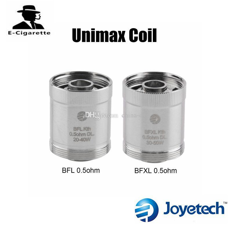 unimax. 100% original joyetech unimax coil bfxl/bfl kth 0.5ohm dl.head fit for 22/25 kit vs smok stick v8 kanger subtank nickel coils protank 3