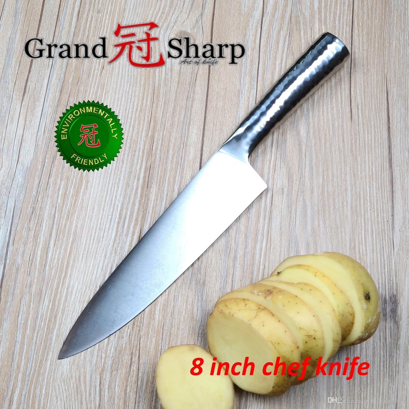 Grandsharp 8 Inch Chef Knife German High Carbon Stainless Steel ...