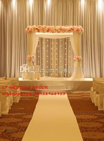 Wedding backdrops for square canopy wedding decoration props wedding backdrops for square canopy wedding decoration propsdrape for wedding archwedding curtain party favor supplies 18th birthday party decorations junglespirit Gallery