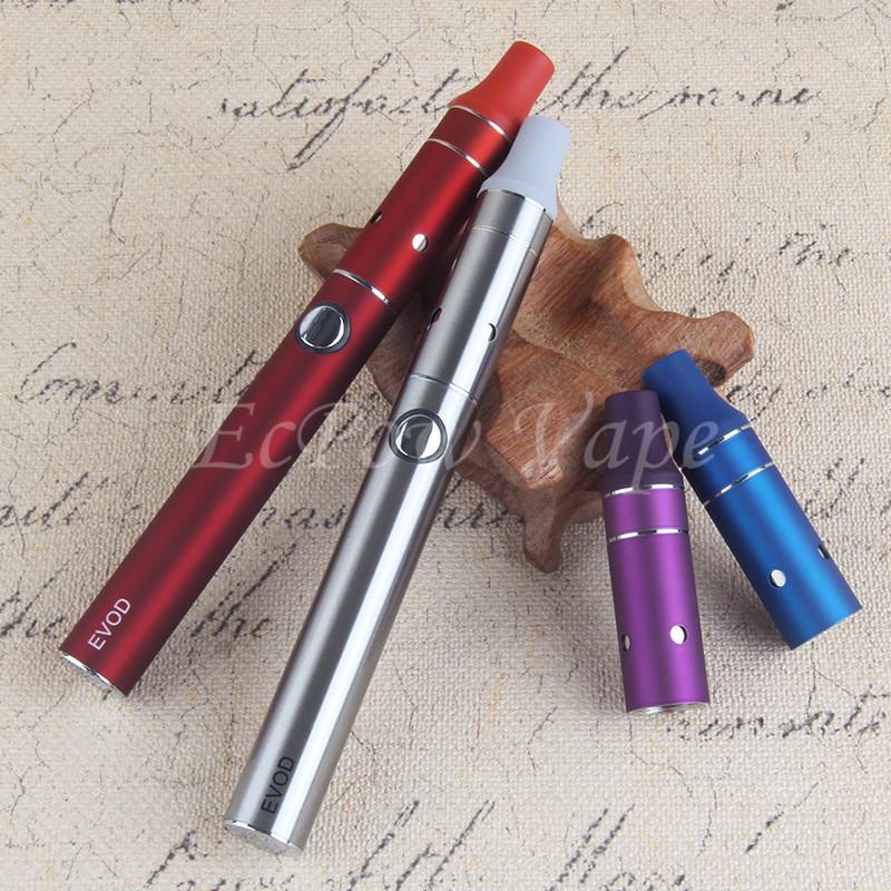 5 unids / lote eVod hierba seca Vaporizador E Cigarrillo 900 mah 1100 mah Batería Mini Vape Hace Vaporizador Pluma Ecigarettes Kits de ampolla de hierbas por paquete electrónico