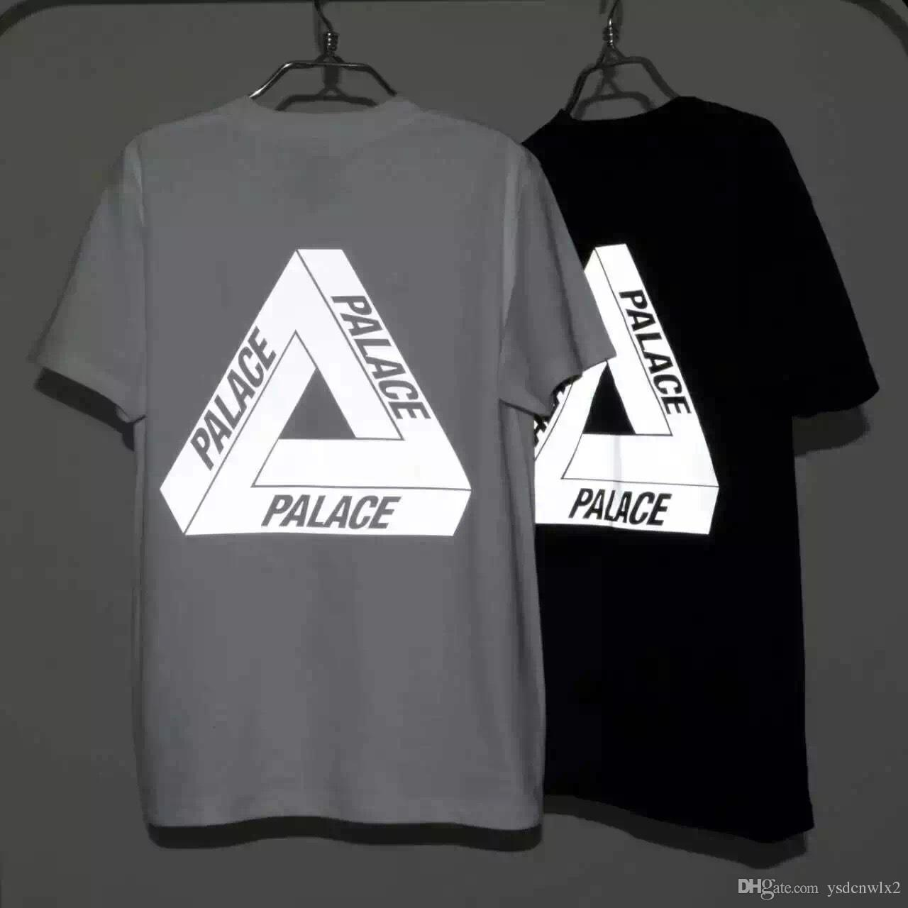 2016 Fashion Black/White Palace T Shirt Men Women Rock Clothing ...