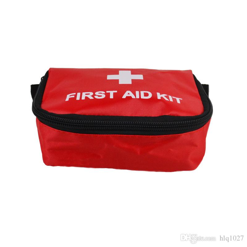 Atacado Venda Quente Útil Kit de Primeiros Socorros Vermelho Camping Saco de Sobrevivência de Emergência Bandagem À Prova D 'Água Frete Grátis