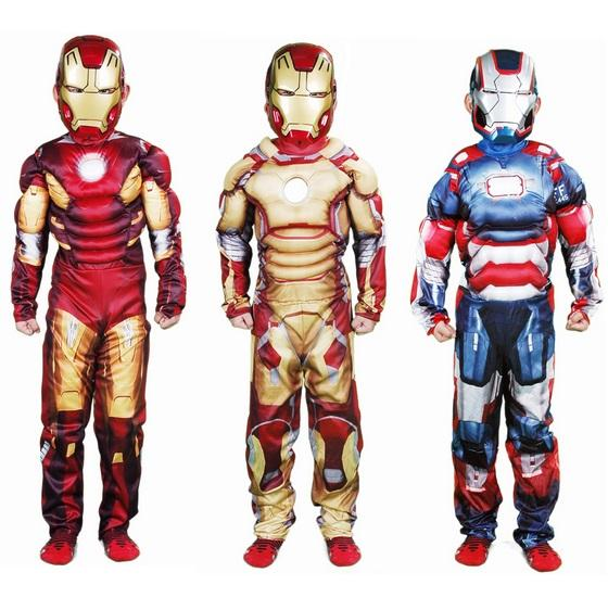q0228 kids halloween muscle iron man costume childrens birthday festival movie cartoon cosplay costume carnival costumes cosplay costumes for couples anime - Halloween Muscle