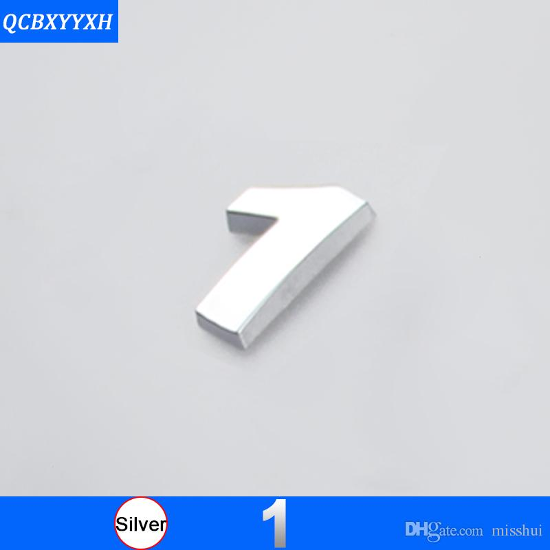 DIY Chrome ABS Alfabeto lettera 3D Numero decalcomanie Simbolo Emblema Badge Sticker Mercedes Audi Nissan VW Ford Toyota Honda