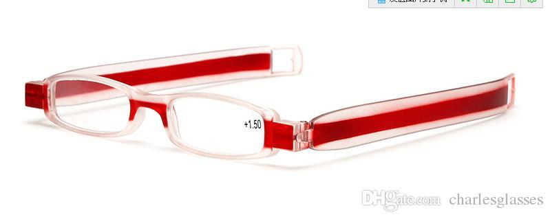 10 teile / los Faltbare lesebrillenn kunststoff presbyopic gläser viele farben