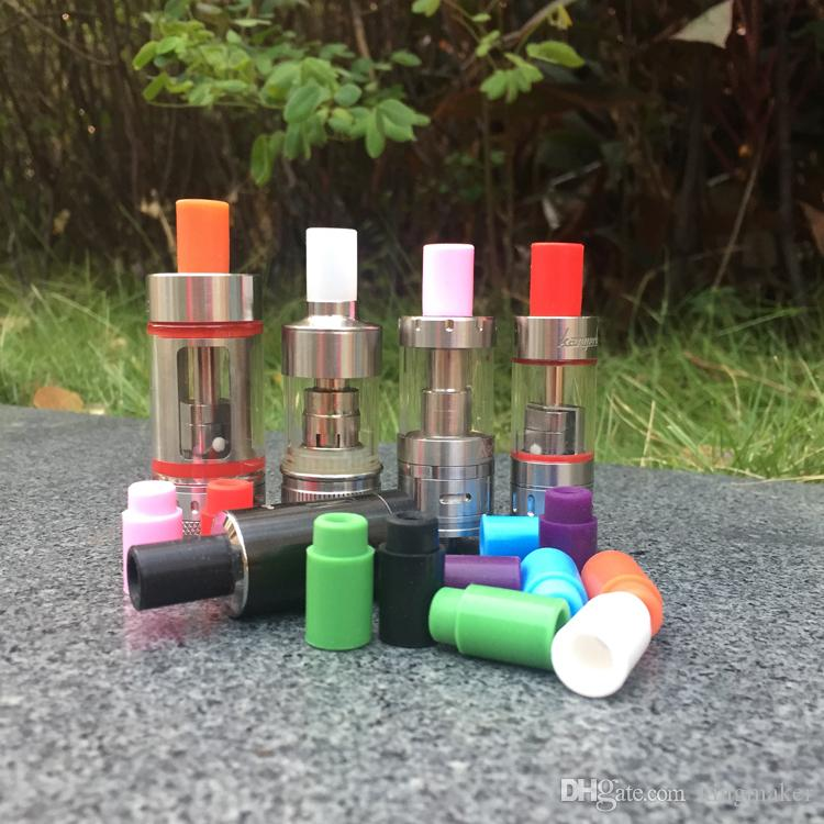 Paquete individual 510 punta de prueba Boquilla de silicona Punta de goteo desechable Puntas de prueba de goma de silicona de colores Puntas de goteo del probador para el tanque e cig
