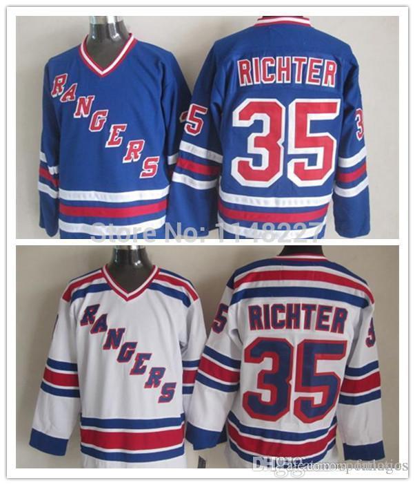 828f8832b ... order 2017 2016 new arrival 35 mike richter jerseynew york ny rangers  light blue throwback e40e7