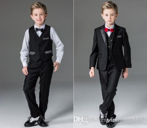 2017 toddler suits boys wedding tuxedo black suit jacket formal waistcoat for kids from fengyun185 6835 dhgatecom