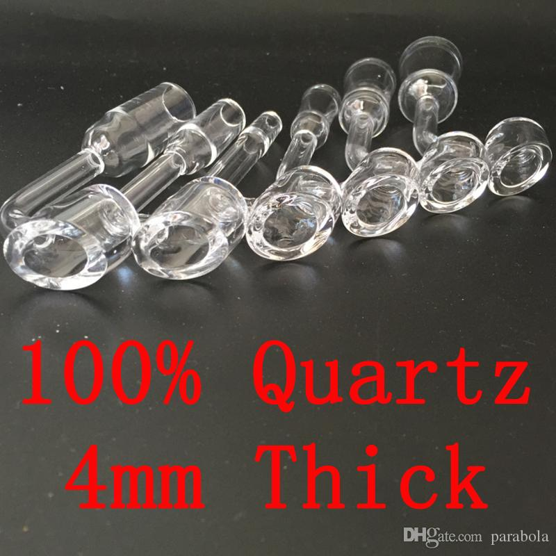 100% 4mm grosso clube banger domeless quartzo prego 10mm 14mm 18mm masculino feminino 90 Graus 100% real Quartz Banger Nails frete grátis