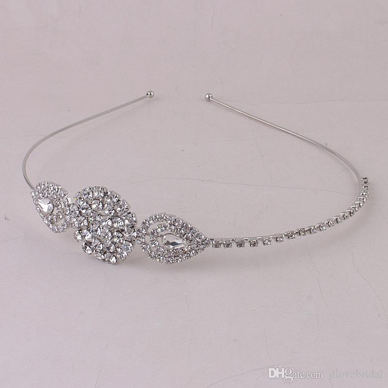 New Arrival Eelgant Crystal Bridal Hairband Wedding Prom Party Headband Garland Headpieces Event Rhinestone Hair Accessory