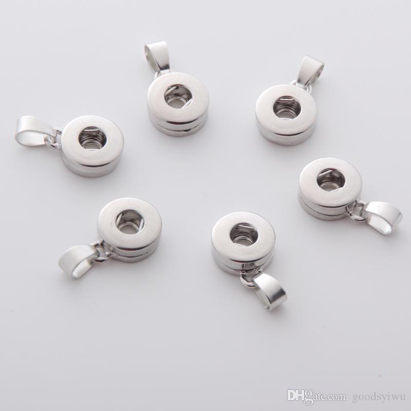 Noosa 12MM Gengibre snap botão base de Achados Da Jóia Pingente de Botão Encantos Ganchos fit DIY botão pulseira / colar / brincos