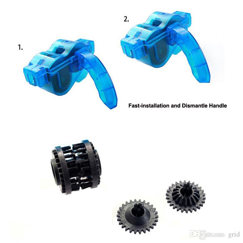 New Road/Mountain Bicycle Chain Cleaner Machine Cycling Bike Brushes Scrubber Wash Clean Tool Kit