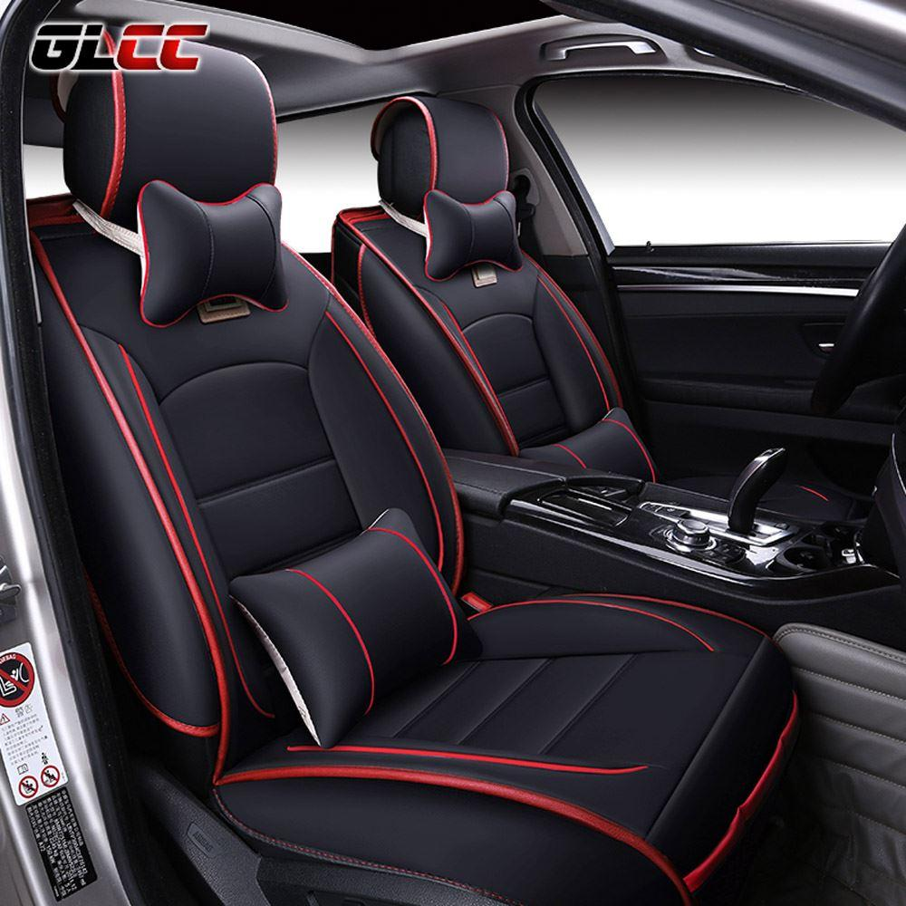 Brand New Luxury Pu Leather Car Seat Cover Front Rear Automobile