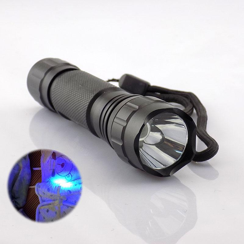 New UV Light Led Flashlight Torch Light Lamp Ultraviolet Purple Color Led Flash Torch Rechargeable Linternas For Money Detector