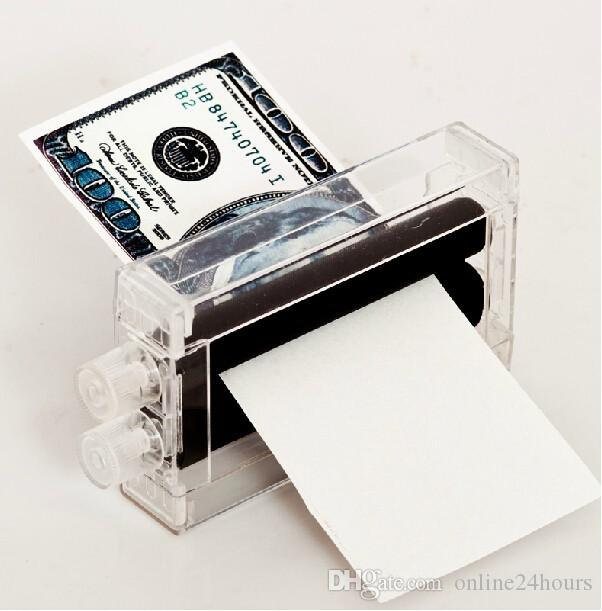 2017 New Cash Banknote Printer Money Printing Machine Magic Trick Tool Kit  Tricking Toy Gift for party show