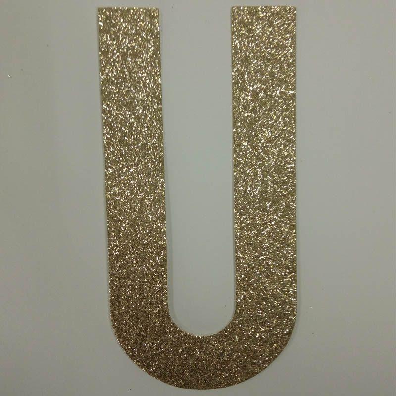 "Hot sale glitter paper ""U"" Decor Festive Birthday Party New Year,Christmas ,Cake,Crafts"