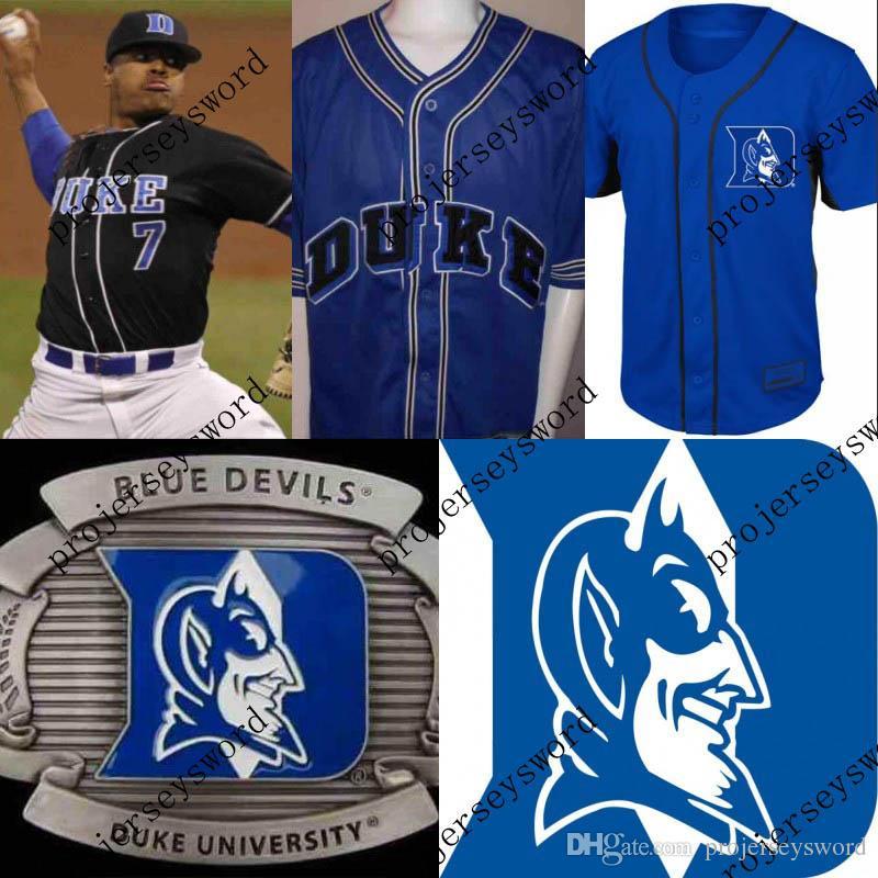 667e2e27121 7 STROMAN Duck University Blue Devils Jersey 100% Stitched ...