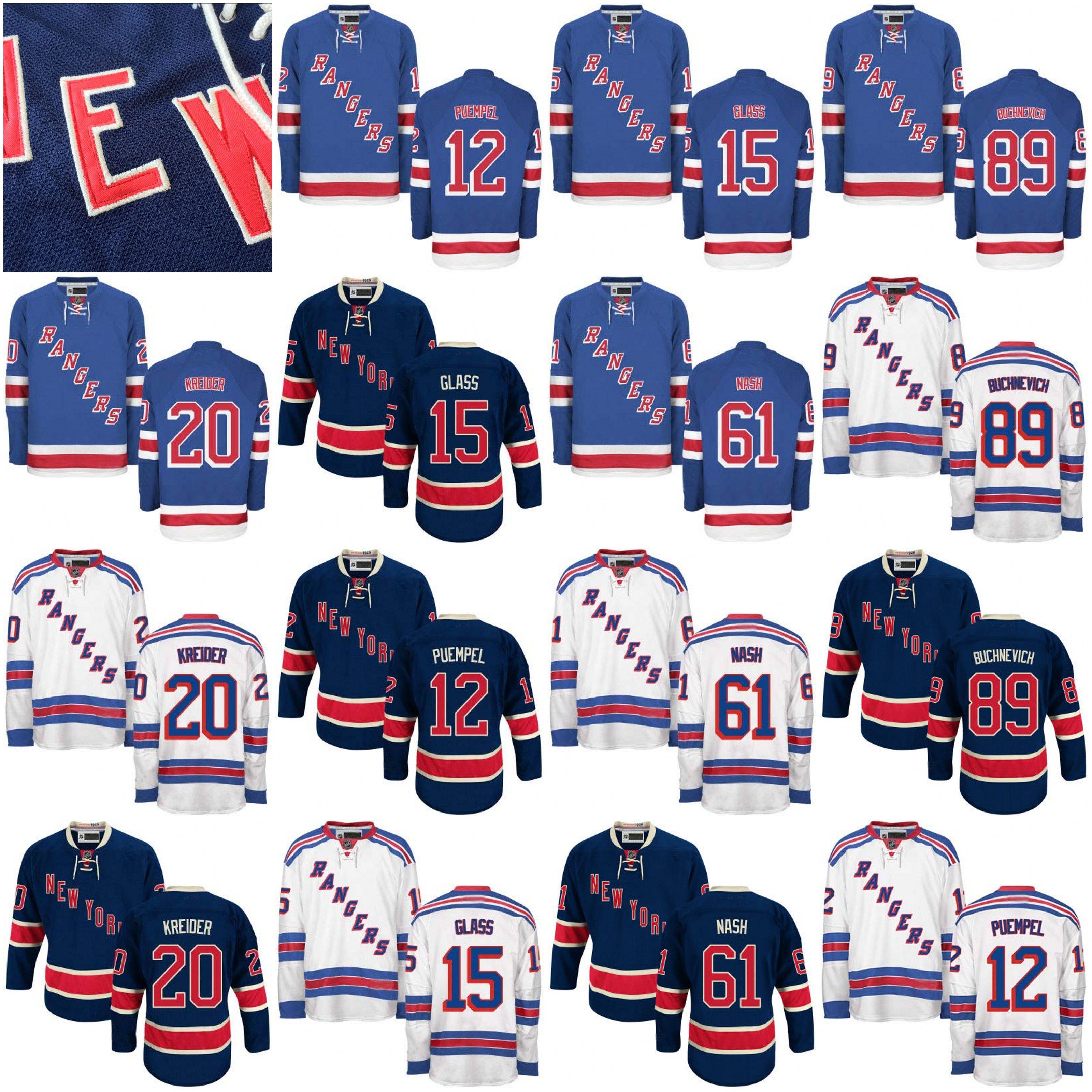 35c7bfa88 ... 2017 2017 New York Rangers Hockey Jerseys 89 Pavel Buchnevich 15 Tanner  Glass 20 Chris Kreider Kids Reebok ...