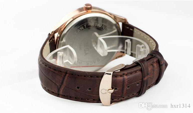 Fashion Luxury Top Brand Men Quartz Watch Date Genuine Leather Sports Military Wrist Watches Male Relogios Masculinos