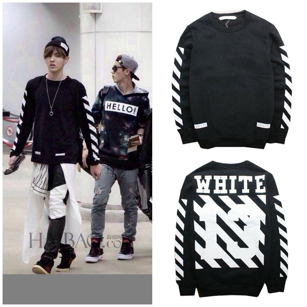 new hip hop fashion pyrex virgil abloh off white 13 long sleeve hoodies striped print sweatshirts from dhgatecom